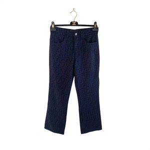 Fendi Vintage Zucca Logo Pants